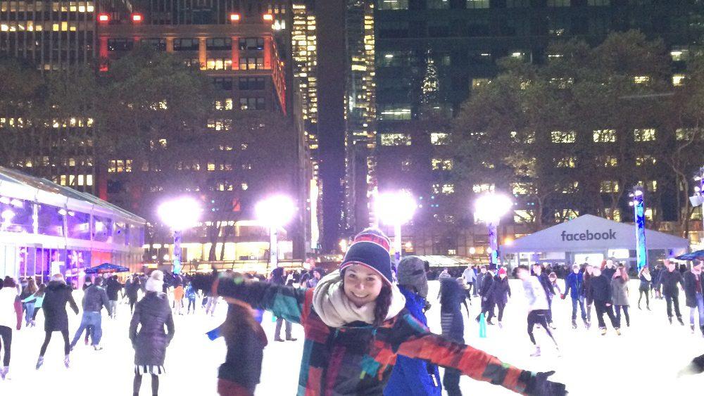 Eislaufen im Bryant Park