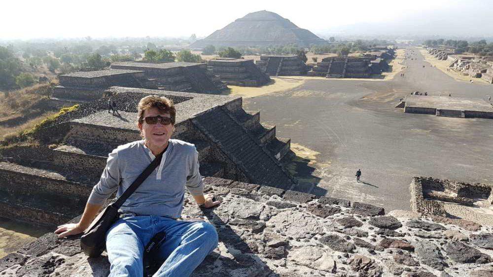 Beim Besuch der Tempel von Teotihuacan